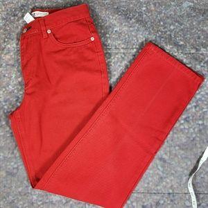 Red Denim Tommy Hilfiger Jeans 2001 Size 4